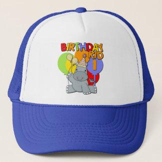 Hippo 1st Birthday Trucker Hat