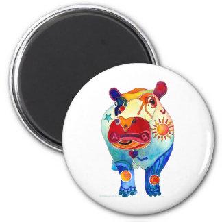 Hippo 2 Inch Round Magnet