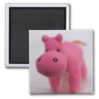 Hippo 2 Inch Square Magnet