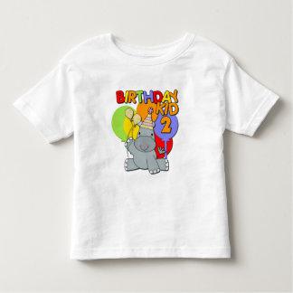 Hippo 2nd Birthday Toddler T-shirt