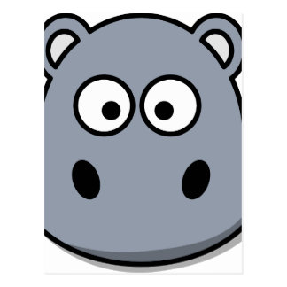 hippo-3087 postcard