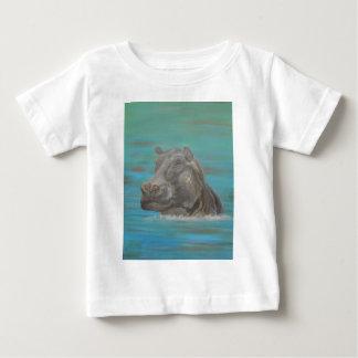 Hippo and Frog, Hippopotamus Baby T-Shirt