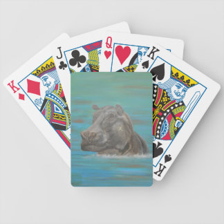Hippo and Frog, Hippopotamus Bicycle Playing Cards