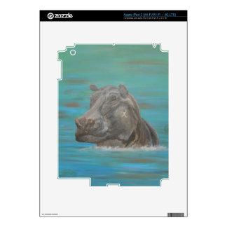 Hippo and Frog, Hippopotamus iPad 3 Skin