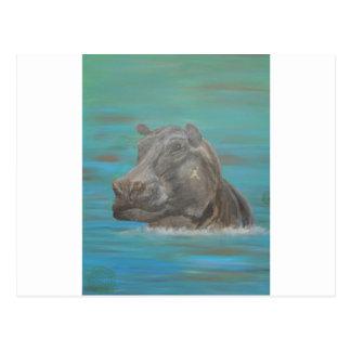 Hippo and Frog, Hippopotamus Postcard