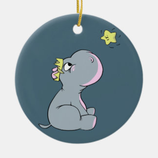 Hippo and Star! Ceramic Ornament