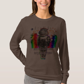 Hippo Animal Astronauts in Space Mission Tee Shirt
