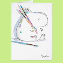 HIPPO ARTIST Birthday Card