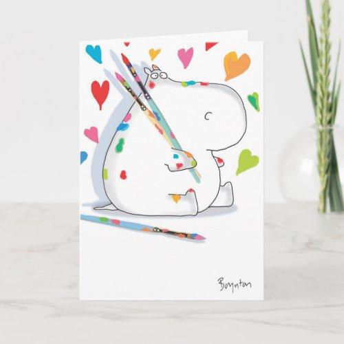 HIPPO ARTIST Love card