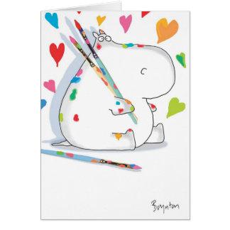 HIPPO ARTIST Love Greeting Card