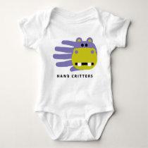 Hippo baby t-shirt bodysuit