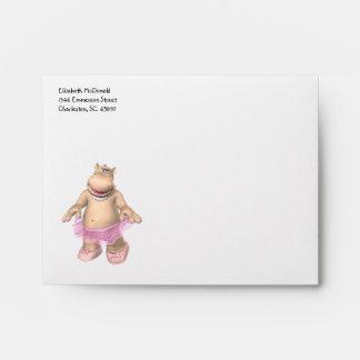 Hippo Ballerina A2 Envelope