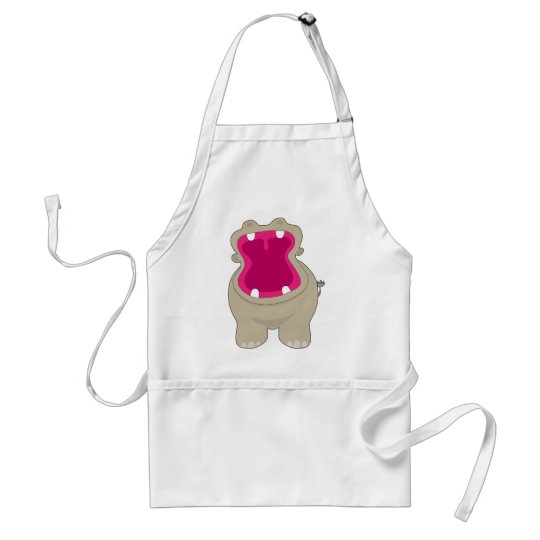 Hippo Big Mouth Adult Apron