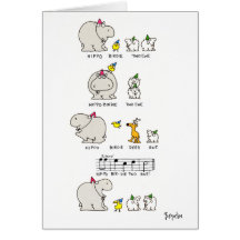 HIPPO BIRDIE CARDS