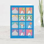 "HIPPO BIRDIE FACES CARD<br><div class=""desc"">A hippo,  a birdie... maybe you had to be there.</div>"