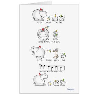 HIPPO BIRDIE TWO EWE jumbocard by Sandra Boynton Card
