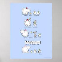 HIPPO BIRDIE TWO EWE poster by Sandra Boynton