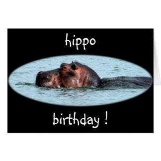 hippo birthday card