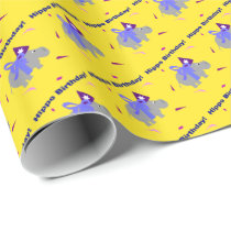 Hippo Birthday Gift Wrap Wrapping Paper