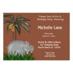 Hippo Birthday Party Invitations