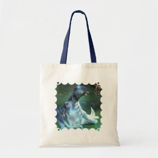 Hippo Budget Tote Canvas Bags