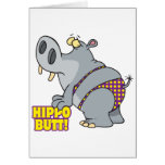hippo butt bikini hippopotamus greeting card