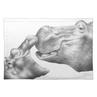 Hippo & Calf American MoJo Placemats