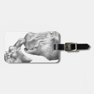 Hippo & Calf Luggage Tag