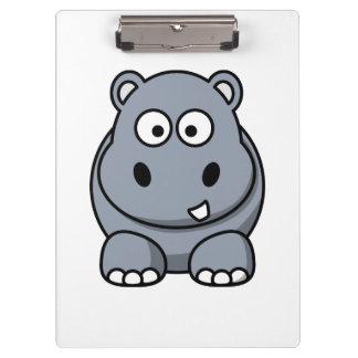 Hippo Cartoon Art Clipboard