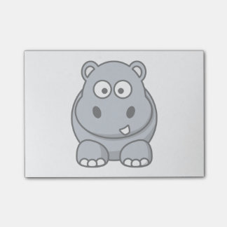 Hippo Cartoon Art Post-it® Notes