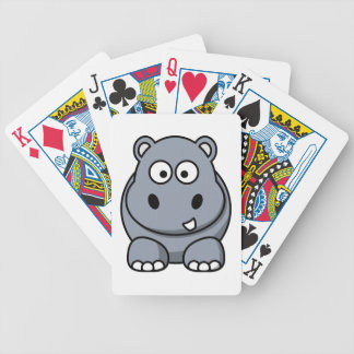 Hippo cartoon bicycle playing cards