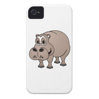 Hippo Cartoon iPhone 4 Cover