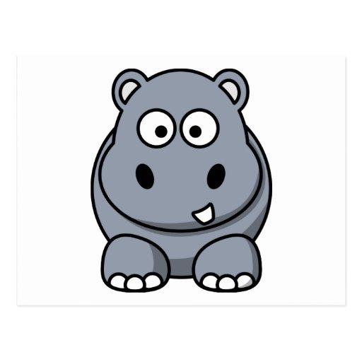 Hippo cartoon postcards
