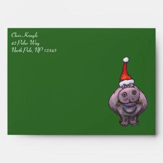 Hippo Christmas Card Envelope