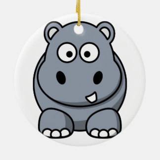 Hippo Christmas Ornament