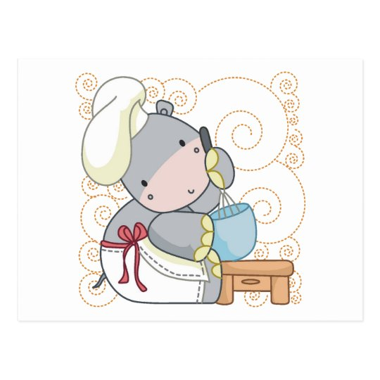 Hippo Cook Postcard