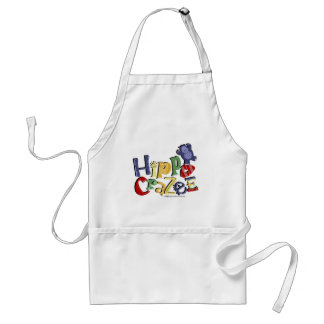 Hippo Crazee (on light colors) Adult Apron