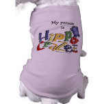 Hippo Crazee (on light colors) Dog T-shirt