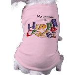 Hippo Crazee (on light colors) Dog T-shirt