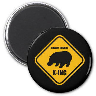 Hippo Crossing X-ing Sign Magnet