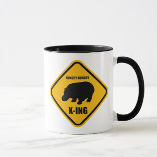 Hippo Crossing X-ing Sign Mug