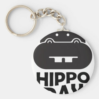 Hippo Day - 15th February Keychain