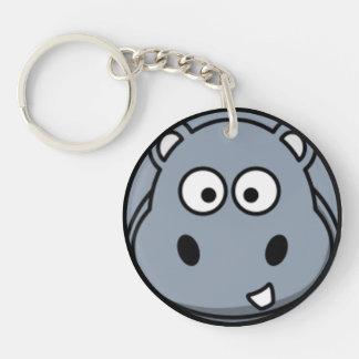 Hippo Face Keychain
