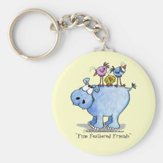 Hippo- Fine Feathered Friends Keychain