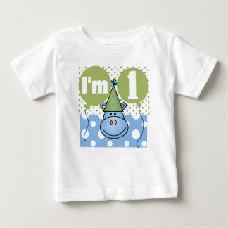 Hippo First Birthday Shirt