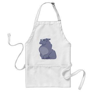 Hippo For Christmas Adult Apron