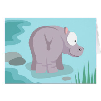Hippo from my world animals serie card