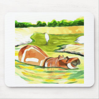 Hippo from Safari Mouse Pad