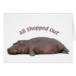 Hippo Fun Holiday Card All Shopped Out