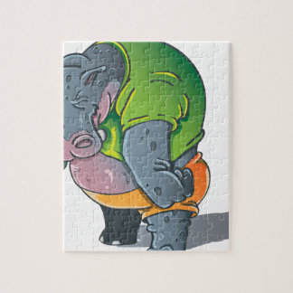 Hippo Graphic Jigsaw Puzzle